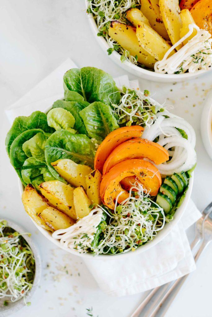 herbstbowl rezept vegan