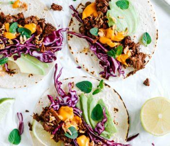 jackfruit tacos käsesauce vegan