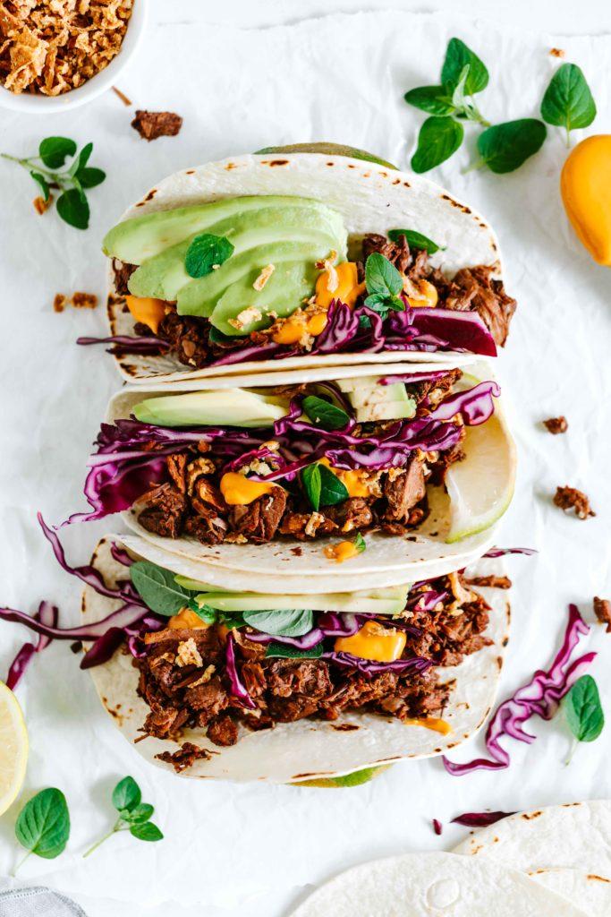 tacos jackfruit vegan