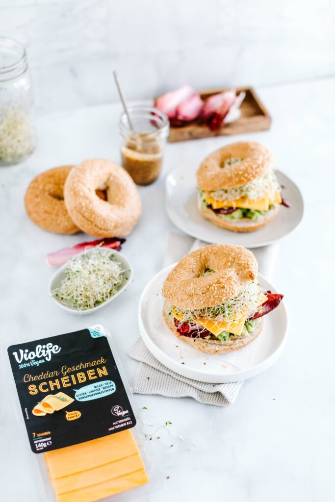 violife avocado bagels vegan rezept
