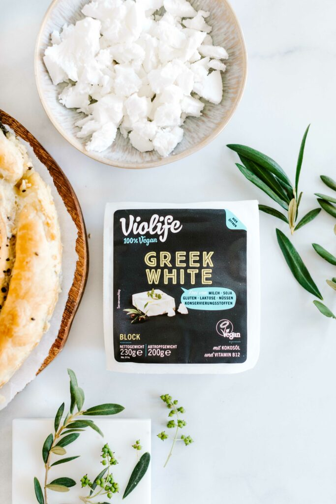 greek white vegan violife rezept