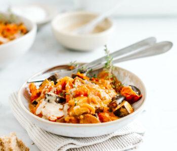 melanzani tomaten ragout rezept vegan